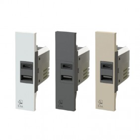 Presa USB 4Box 3.0A per serie Bticino Living Now 4B.K.USB.30