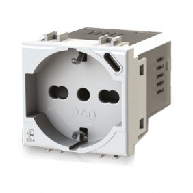 Bticino Matix 4B.AM.P40 3.0A Bipass and Schuko 4Box P40 socket with USB 3.0A