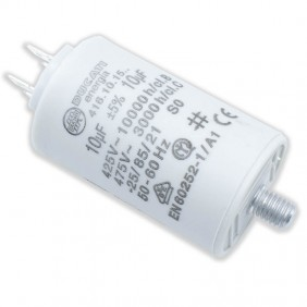 Capacitor Ducati 450V 10 UF with double Faston Tang 416101564.CU