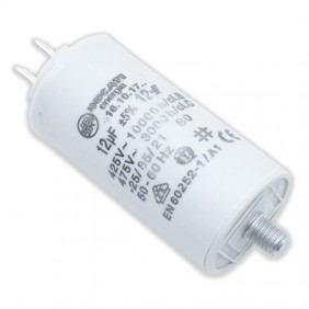 Capacitor Ducati 450V 12 UF with double Faston Tang 416101764.CU
