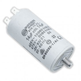 Capacitor Ducati 450V 14 UF with double Faston Tang 416102164.CU