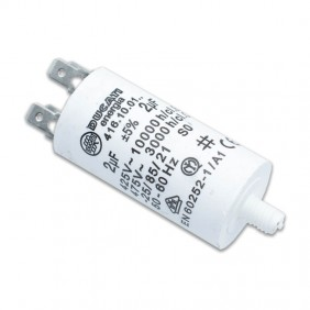 Capacitor Ducati 450V 2 UF with double Faston Tang 416100164.CU