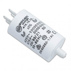 Capacitor Ducati 450V 8 UF with double Faston Tang 416101364.CU