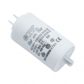 Capacitor Ducati 450V 20 UF with double Faston Tang 416102564.CU