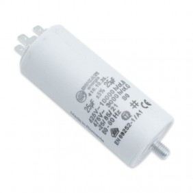 Capacitor Ducati 450V 25 UF with double Faston Tang 416102664.CU
