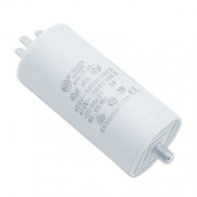Capacitor Ducati 450V 40 UF with double Faston Tang 416102964.CU