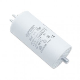 Capacitor Ducati 450V 35 UF with double Faston Tang 416102864.CU