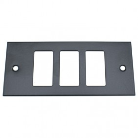 Insert Master black lacquered 3 holes complete with frame 60l203