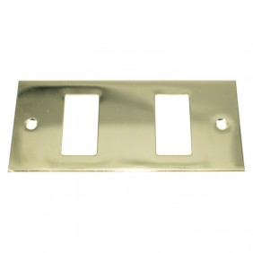 Insert Master Gold lacquered 2 holes complete with frame 60l212