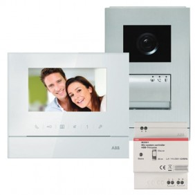 Abb Single-Family Video Doorphone Kit with Speakerphone Screen 4.3 WLK311B