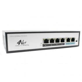 Commutateur 4Power 6 Ports 10/100Mbps PoE 4N-04P2TX