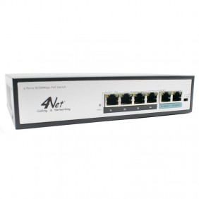 Switch 4Power 6 Ports 10/100Mbps PoE 4N-04P2TX
