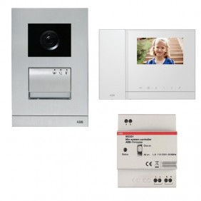Abb colour videointercom kit with monitor and handset and 2-wire image memory