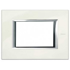 Bticino Axolute Plate 3 Modules White Limoges...