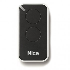 Nice INTI 2-channel remote control 433.92 MHz rolling code Black INTI2