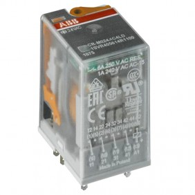 Industrial relay Abb CR-M 24V 4 exchange contacts with ER 5850 LEDs