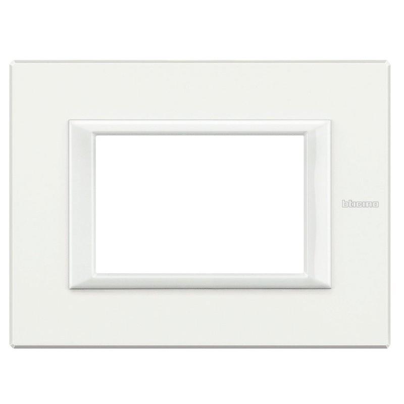 BTICINO AXOLUTE PLATE 3 MODULES WHITE MONOCHROME HA4803HD