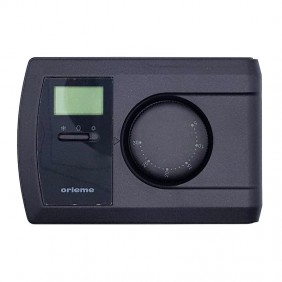 Wall mounted thermostat Orieme battery operated 3VDC Anthracite TE22A
