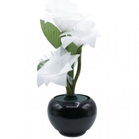 Poinsettia FibraLed Wimex White 4504106X