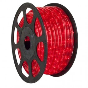 Wimex Christmas light tube 2 wires Red 45 meter coil 4502021