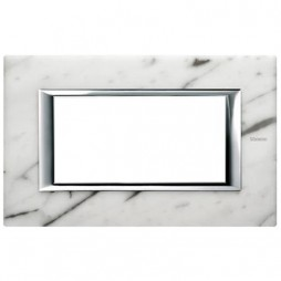 Bticino Axolute Placca 4 moduli marmo Carrara HA4804RMC