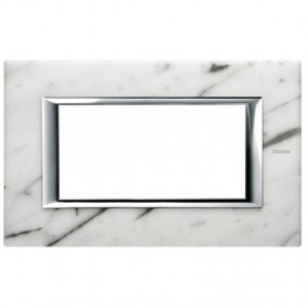 Bticino Axolute Plate 4 Modules Marble Carrara...