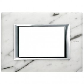 Bticino Axolute Placca 3 Moduli marmo Carrara HA4803RMC