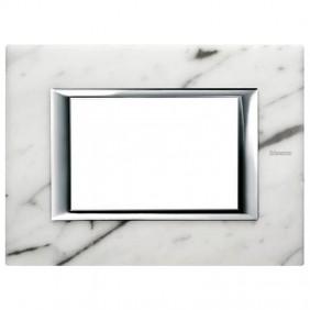 Bticino Axolute Plate 3 Modules Marble Carrara...