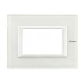 Bticino Axolute Placca 3 Moduli Vetro Bianco...