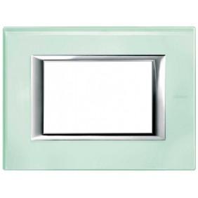 Bticino Axolute Plate 3 Modules Glass Kristall...