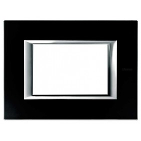 Bticino Axolute Plate 3 Modules Glass Black...