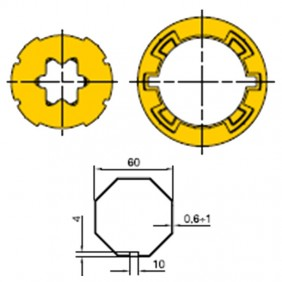 KIT Adapter for octagonal roller shutter motors 60 515.06000