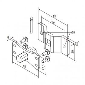 KIT Nice bracket for roller shutter motors series TTGO 625.10012/AX