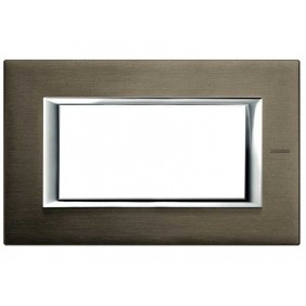 BTICINO AXOLUTE SWITCH PLATE 4-GANG BRONZE HA4804BR