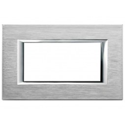 BTICINO AXOLUTE SWITCH PLATE 4-GANG CHROME HA4804CR