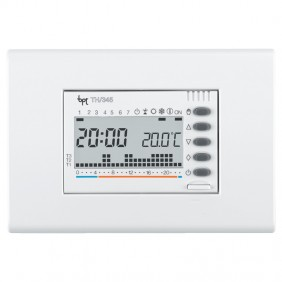 Cronotermostato digitale ad incasso BPT TH/345 Bianco 69405300