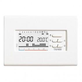 Chronothermostat numérique mural BPT TH/400 hebdomadaire Blanc 69404200