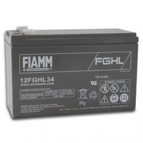 Hermetic lead-acid battery Fiamm 12V 8.4Ah Long Life for UPS 12FGHL34