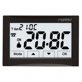 Flush-mounted Perry thermostat black power...