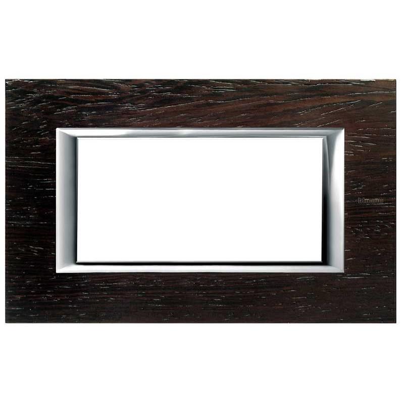 Bticino Axolute Placca 4 moduli legno Wengé HA4804LWE