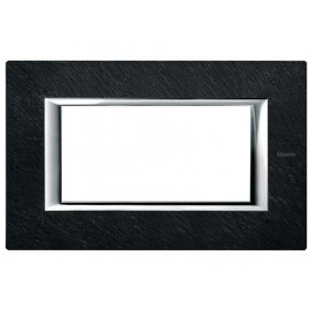 BTICINO AXOLUTE SWITCH PLATE 4-GANG SLATE STONE HA4804RLV