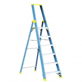 Double OEC Ladder with 5 Platform Steps N0ST0137