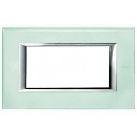 Bticino Axolute Placca 4 moduli vetro Kristall...