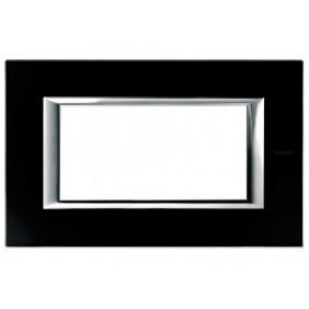 Bticino Axolute Plate 4 Modules Glass Black...