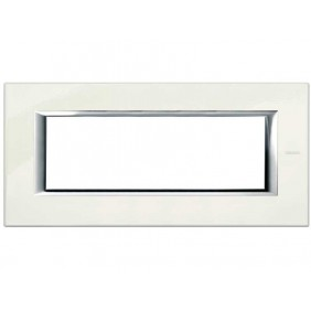 Bticino Axolute Plate 6 Modules White Limoges...