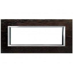 Bticino Axolute Placca 6 moduli legno Wengé HA4806LWE