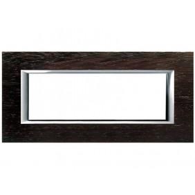 Bticino Axolute Placca 6 moduli legno Wengé...