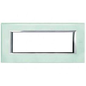 Bticino Axolute Plate 6 Modules Glass Kristall...