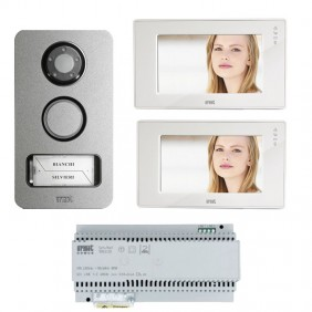 Urmet 2-wire two-wire hands-free video door phone kit color way and mikra