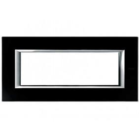 Bticino Axolute Placca 6 moduli vetro nero...